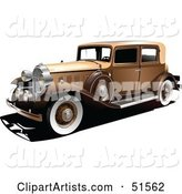 Vector Vintage Car Clipart by Leonid
