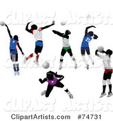 Vector Volleyball Clipart by Leonid
