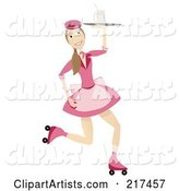 Vector Waitress Clipart by Mheld