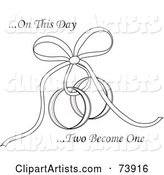 Vector Wedding Rings Clipart by Rogue Design and Image