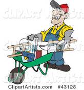 Vector Wheelbarrow Clipart by Dennis Holmes Designs