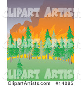 Vector Wildfire Clipart by Rasmussen Images