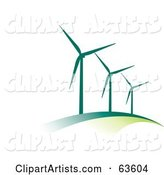 Vector Wind Turbines Clipart by Alexia Lougiaki