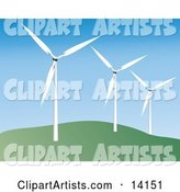Vector Windmill Clipart by Rasmussen Images