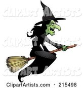 Vector Witch Clipart by Cory Thoman