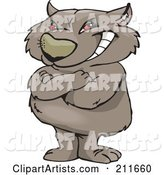 Vector Wombat Clipart by Dennis Holmes Designs