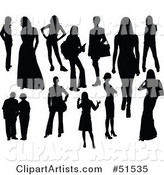 Vector Women Clipart by Leonid