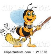 Vector Worker Bee Character Clipart by Toons4Biz