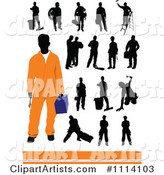 Vector Workers Clipart by Leonid