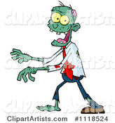 Vector Zombie Clipart by Hit Toon