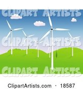 Windmills Clipart by Rasmussen Images
